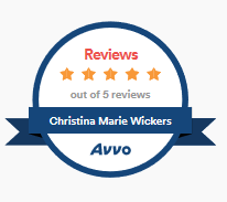 Christina M. Wickers Avvo Reviews as of 1/10/20
